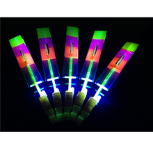 2017 Real Led Wedding Favors 50pcs Led Light Arrow Rocket Helicopter Flying Toy Luminous Colorful Flash Toys Party Fun Gift(China)