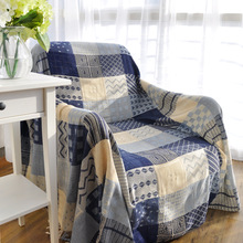Tassels Blue Geometric Woven Soft Sofa Blankets Throws Rugs Sofa Cover Chair Cover Table cover Home Decor 150x190cm/220x260cm(China)