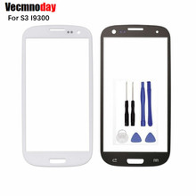 Vecmnoday 4.8 LCD Front Digitizer Touch Screen Lens Outer Glass With Logo + Tools For Samsung Galaxy S3 I9300 i9305 I747 Replace(China)