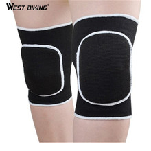 WEST BIKING Kneepad Thick Warm Football Extreme Sports Knee Pads Brace Support Protect Cycling Knee Protector Kneepad Knee Pad(China)