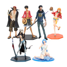 14-25cm Japanese Anime One Piece P.O.P Nami Dressed in Luffy Outfit with Casks Version PVC Figure New in Box(China)