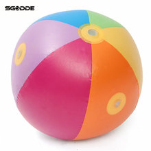Children's Summer Outdor Water Sports Inflatable Spray Water Ball Swimming Beach Pool Play The Lawn Balls Playing Smash It Toys(China)