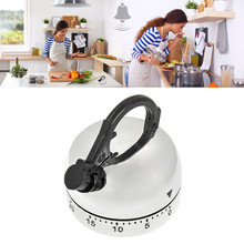 60 Minute Kitchen Timer Alarm Mechanical Teapot Shaped Timer Clock Counting