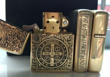 zpo Brand gold insert classic constantine lighter armor logo withbox(China)