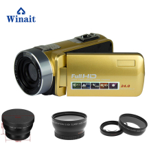 "Winait Newest wireless video camera face beauty DIS max 24mp 16x digital zoom 3.0"" 1080P professional digital camera camcorder"