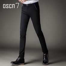 OSCN7 Slim Fit Mens Dress Pants Business Leisure Perfume Masculine 2017 Brand Clothing Plus Size Pantalon Homme Classique(China)