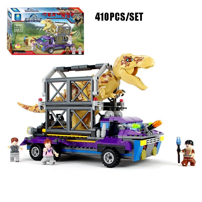 410pcs Jurassic Tyrannosaurus TREX Tracker King T-Rex Dinosaur Model Building Blocks Bricks Toy For Kids Xmas Gifts<br>