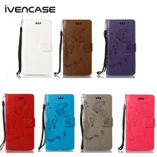 ivencase For Nokia 3 5 6 Phone Cases Flip Embossed Flower Leather Wallet Card Slot Stand Shockproof Coque Cover For Nokia 3 5 6(China)