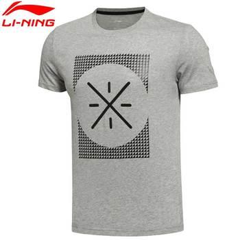 Li-Ning Men's Wade AT DRY BASE Short Sleeve T-Shirt Breathable 64.5% Cotton 35.5% Polyester Sports Training Tee AHSL069  MTS1831
