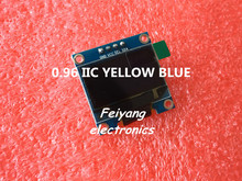 "1pcs 0.96""yellow blue 0.96 inch OLED module  New 128X64 OLED LCD LED Display Module For Arduino 0.96""  IIC  I2C Communicate"