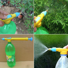 Mini Juice Bottles Interface Sprayer Head Plastic Trolley Gun Water Pressure Watering Potted Garden Home essential Garden Tool