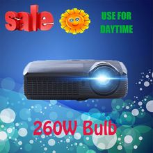 DLP Projector 1024x768 Support Active shutter 3D Android Wifi 180W replaceable bulb higher brightness 7500 lumens with HDMI VGA