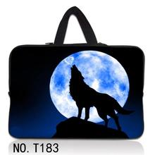 "Wolf Fashion 7 10 12 13 15"" sleeve case carry handbag for laptop tablets PC notebook soft cover 13.3'' 15.6 Laptop bag netbook"