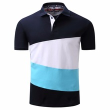 Men's Cotton Performance Loose Fit Short Sleeve Polo Shirts B77