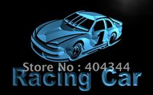 LB578- Racing Car Race Bar Pub Club LED Neon Light Sign home decor shop crafts(China)