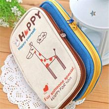 1 PCS Cute Cartoon Plush Pencil Case Kawaii School Kids Pencil Box Animals Stationery Fashion Makeup Bag for Women