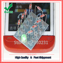 Free Shipping NO Need Power Mobile Phone Signal Flash Light Radiation Power DIY Kit Cheaper Integrated Circuits