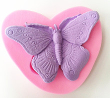 Design 802 Butterfly Shape Silicone Mold,Sugar Mold, Chocolate Mold, Cake Decoration Tool(China)