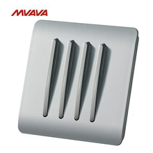 MVAVA 4 Gang 2 Way Wall Light Switch 16A Light Control Wall Decorative Push Button Luxury PC Material Switch Free Shipping(China)