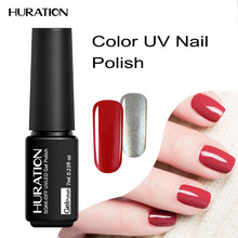 Huration Semi Permanent Soak Off UV LED Varnish 7ml Gel Nail Polish Long Lasting 29 species Colour Nail Gel Polish Lacquer(China)