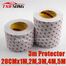 20CM Width  Anti Scratch 3M Rhino Skin Sticker Vinyl Clear Transparence Thickness Bike Protective Flim 3M protection film