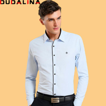 Buy Dudalina Camisa Male Shirts Long Sleeve Men Shirt Brand Clothing Smart Casual Slim Fit Camisa Social Masculina Chemise Homme for $20.89 in AliExpress store