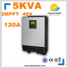 Solar Inverter 5Kva 4000W Off Grid Inverter 48V 220V 120A Dual MPPT Hybrid Inverter Pure Sine Wave Inverter 60A Battery Charger