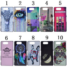Cartoon Glasses Dog Animal Eiffel Tower Smile Tooth Printed Hard Plastic Phone Case Cover for Sony Xperia Z3 Mini Z3 Compact