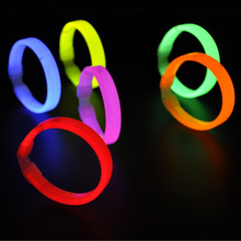 fluorescent bracelets flashing lighting novelty toy glow sticks for christmas party celebration festivities ceremony Multi color(China)