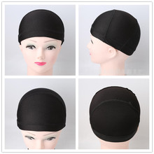 1PCS Cheap Weaving Caps Spandex Dome Wig Cap for Making Wigs Black Wig Net Cap Weave Cap Nylon Stretch Invisible Hair Net(China)
