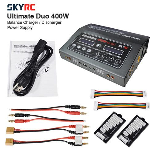 SKYRC D400 Ultimate Duo 400W ACDC Balance Charger Discharger (5)