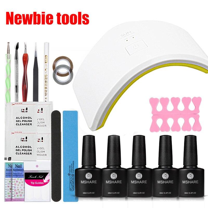 MSHARE 39Pcs UV LED 18W Manicure Tool Nail Gel Lamp UV LED Lamp Nail Dryer Polish Machine for Curing Nail Gel Art Tool Set Kits<br>
