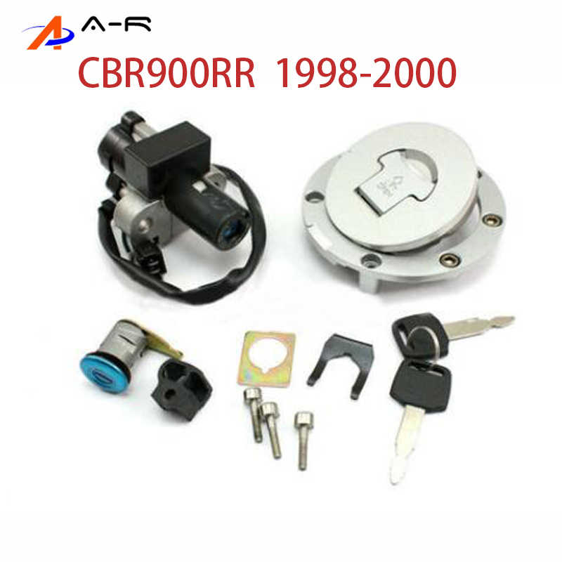 1992-2000 Alpha Rider Ignition Switch Lock Fuel Gas Cap Cover Keys Set For Honda CBR900RR // CBR919RR 1996-1999