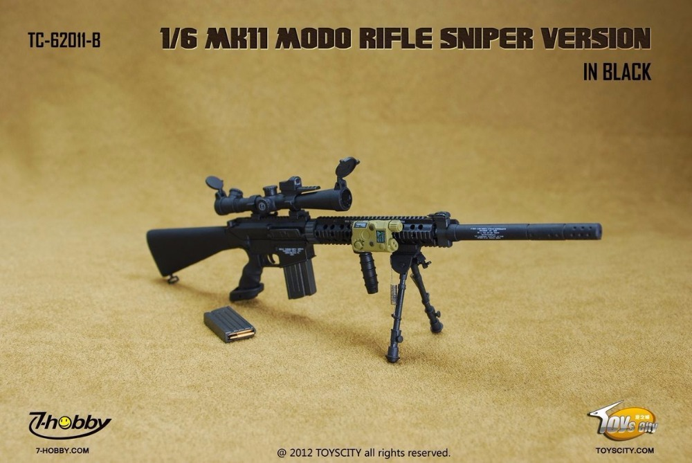 TOYSCITY 1/6 Scale MK11 MOD0 Rifle Sniper Version In Black Model Toy TC-62011-B For 12 Action Figure Toys Accessories  <br><br>Aliexpress