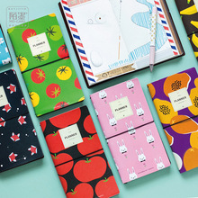 PU Leather Cover Planner Notebook Fruit Animals Travel Journal Diary Book Exercise Composition Binding Note Notepad Gift 2017(China)