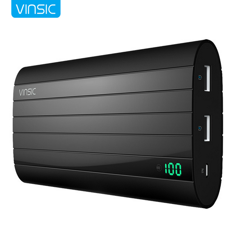 Vinsic VSPB206b Portable Power Bank 20000 mAh Super-large Capacity Portable Charger Rechargeable External Battery Pack Powerbank