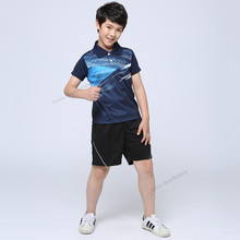Adsmoney 100% Polyester Tennis wear shirt+shorts Badminton sets for Boy/Girl, sports badminton clothes , Table Tennis Uniforms