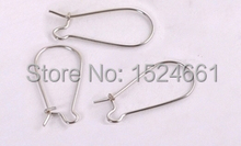 100PCs Silver Tone kidney Ear Wires 25*11mm * hooks  findings pin materials    jewelry making supplies