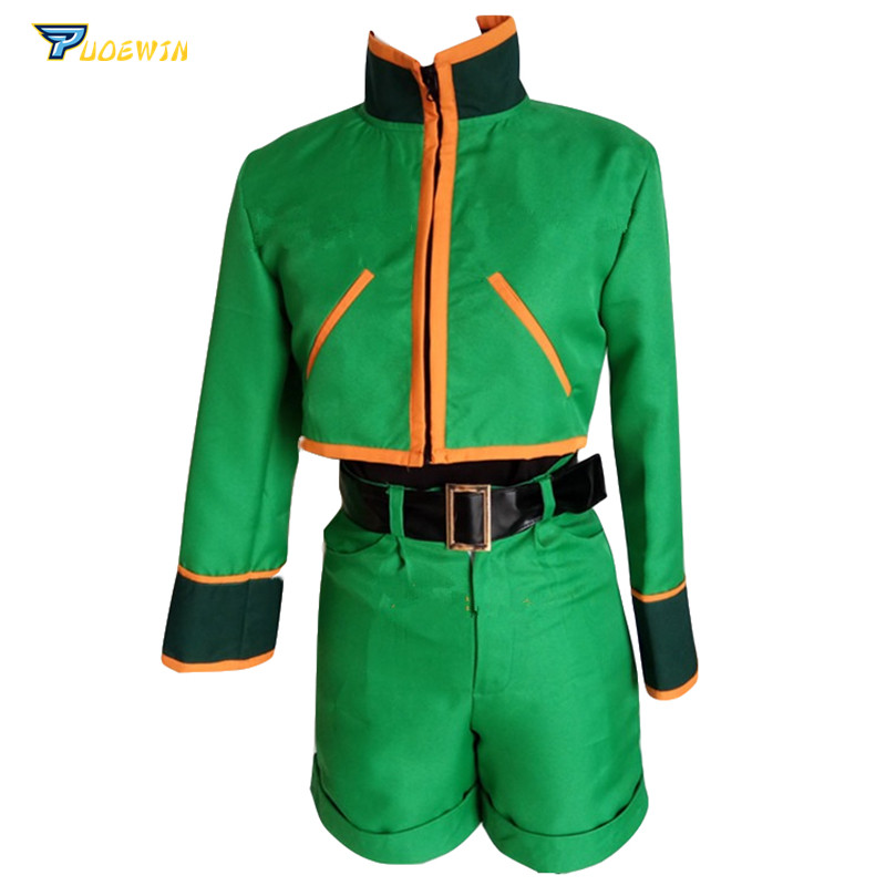 Hunter X Hunter Gon Freecss Cosplay Costumes with Shoes Covers Custom Made Any Size