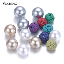50pcs/lot Mix Colors Aromatherapy Ball 6mm Essential Oil Diffuser Perfume Balls Natural Stone for Pearl Locket VA-532(China)