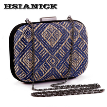 2017 Rushed Special Offer Party Women Polyester Braided Clutch Handbag Craft Personalized Small Dinner Bag Hard Design Evening(China)