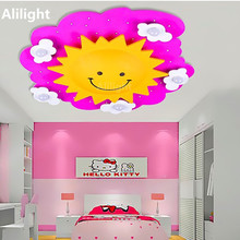 Lovely Cartoon Ceiling Light Personality Led Ceiling Lamp Baby Girl Bedroom Decor Indoor Lighting Flush Mount Lamp Hanging Light