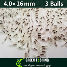 50pcs 4mm 3 balls Jig Fishing Lure Glass Rattles Insert Tube Rattles Shake Attract Fly Tie Tying Fishing rattle(China)