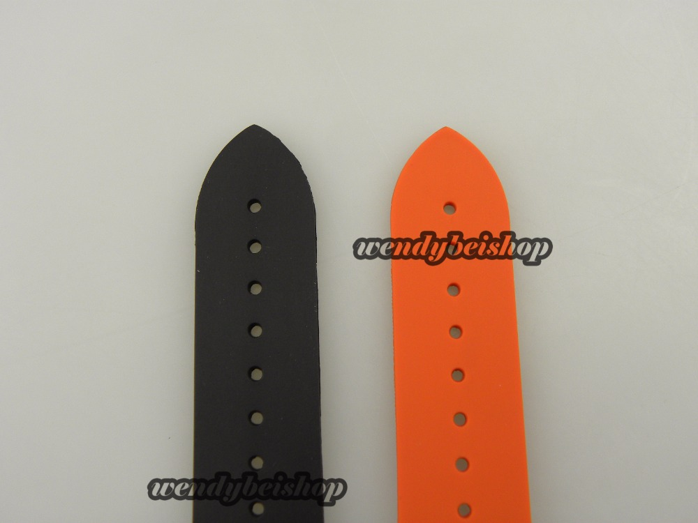 20mm Hot Sell New Men Orange or Balck Strap for Clock Silicone Rubber Watch Band Curved End for omewatch 45 and 42mm Best Gift<br><br>Aliexpress