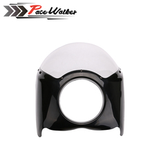 New arrived balck Wide Glide Motorcycle Headlight Plastic Front Fairing Kit for Harley motor