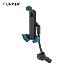 Turata Universal Cigarette Lighter Interface Mount Stand Charger Car Holder For iphone 7 Plus GPS with Dual USB Ports T20(China)