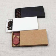 30pcs DIY blank kraft/white/black paper slide soap box gift/ candy favor packing display box  custom cost extra