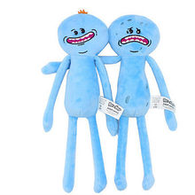10'' toys Rick and Morty Soft Plush Stuffed Figure Toy Doll 25cm  Mr Meeseeks Stuffed Toys Kids Gifts