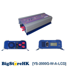 2000W LCD Display Pure Sine Wave Inverter for 3 Phase AC To AC Wind Turbine 45V-90V Input Voltage MPPT Build In Rectifier