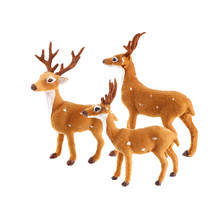 New HOT 1pcs Xmas Elk Plush Simulation New Year Christmas Decorations Christmas Ornaments for Home Christmas Gift Navidad(China)
